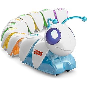 Fisher-Price La Chenille Programmable, jouet intéractif enfant sons et lumières, jeux pour apprrendre la relation de cause à effet, 3 ans et Plus, DKT39