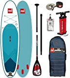 Red Paddle Co 2018 Ride 10'6 Inflatable Stand Up Paddle Board + Bag, Pump, Paddle & Leash Paddle Option - Alloy 3-Piece