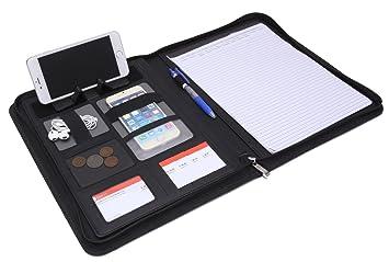 A4 Leather Conference Folder Portfolio Leather Document Holder Portfolio  Folder Legal Pad Writing, Letter Size  Resume Portfolio Folder