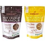 Rawcology | 2 pack Granola croccanti al cioccolato e al limone biologichi | Senza zuccheri aggiunti, senza glutine…