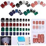 Falsche Nägel Set, 150 Stück Künstliche Fingernägel Selbstklebend Kunstnägel Falsche Nail Tips Fake Nail zum Aufkleben…