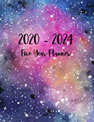 2020-2024 Five Year Planner: 60 Months Calendar, 5 Year Appointment Calendar, Business Planners, Agenda Schedule Organizer Logbook and Journal with galaxy cover