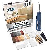 BENLER® NIEUW! - Tegelreparatieset met 2-in-1 wassmelter voor tegels, keramiek en aardewerk, bruintinten, ook geschikt voor l