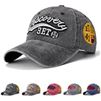 Youlity Vintage Baseball Caps for Men Women Cotton Sun Hat Distressed Adjustable Snapback Outdoor Sports Hats for…