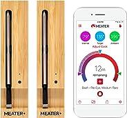 MEATER+ 2 Einheiten Bundle – Sparen Sie €20 | 50m Lange Reichweite Kabelloses Fleisch-Thermometer fuer Ofen Grill Küche BBQ Smoker Rotisserie mit Bluetooth und WiFi Digital Connectivity