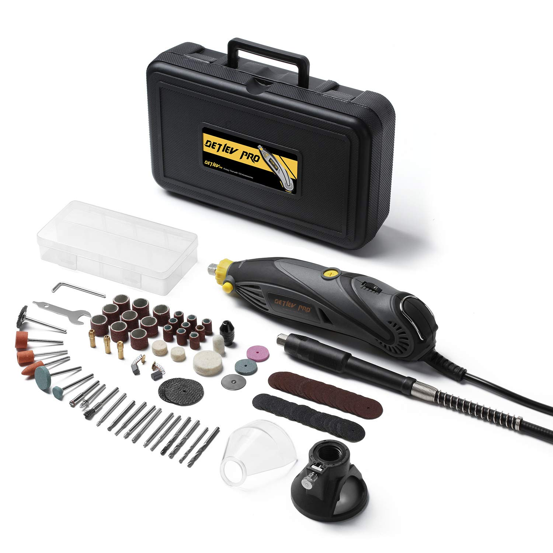 Outil Rotatif Electrique DETLEV PRO Outil Rotatif Multifonction 170W /à 6 Vitesse Variable avec 153 Accessoires pour D/écoupage//Polissage//Meulage//Gravure