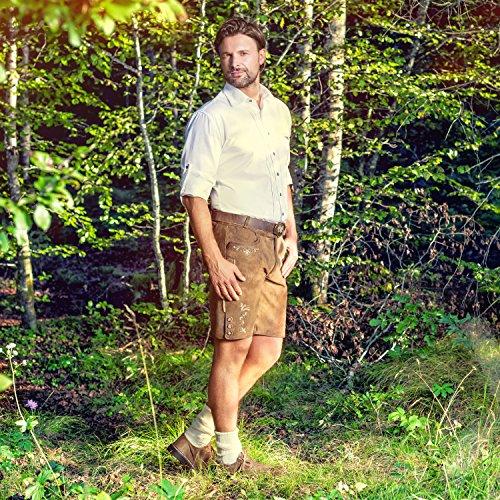 ALMBOCK Trachten Hemd Herren weiß | Trachtenhemd mit Standard Kent-Kragen aus Baumwolle, fürs Oktoberfest, slim-fit, langarm |traditionelles Trachtenhemd verfügbar in Gr. S-XXXL -