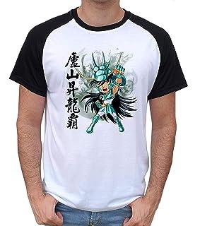 Okiwoki T-Shirt Noir Saint Seiya parodique Seiya Shiryu Hyoga et Shun dans la Maison dAioros : 4 touristes Japonais perdus en Gr/èce. Parodie Saint Seiya