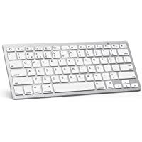 OMOTON Bluetooth Keyboard Compatible with New iPad 10.2(8th Gen 2020/7th Gen 2019), iPad Air 4 10.9 Inch, iPad Pro 11/12.9(2020/2019), iPad Air 3 2019, iPad Air/Pro/Mini, iPhone and More, White