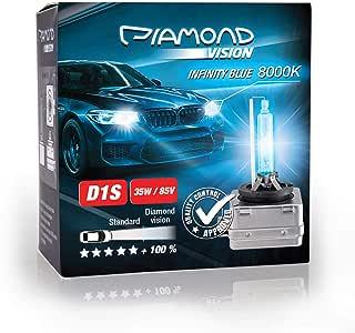 2x D1S 35W 85V 8000K Diamond Vision HID Bi Xenon Brenner Whitevision White Weiß Super Extrem Hell Laser Kit Nightbreaker Extreme Vision Ultra Blue Hyper Duobox Gasentladungslampe PK32d-2