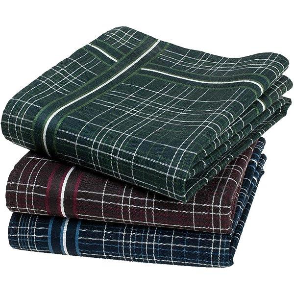 45 cm x 45 cm Aberdeen Tartan Handkerchiefs 3 Items