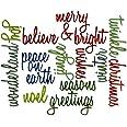 Sizzix Thinlits Lot de 17 matrices de découpe en forme de mots Thème Noël