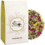 The Indian Chai - Clear Skin Tea 50g with Rose, Chamomile, Lavender Sage for Skin Glow, Natural Beauty Enhancer Herbal…