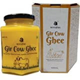 Anveshan Empowering farmers with technology Gir Cow Ghee 400 ml Glass Jar ( Traditional Bilona Churning of Curd )