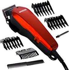 SJ Men Corded Electric Non Rechargeable Beard Mustache Hair Clipper Trimmer ABS Multi Color Regular Size 1 Pieces -127