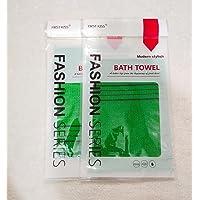 WorldBeautyCare Korean Italy Hammam Exfoliating Wash Cloth Whitening Scrub Towel (Green color) 2 pieces