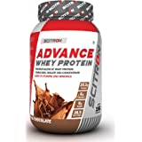 Scitron Advance Whey Protein (28.5 Servings, 25.5g Protein, 6g BCAAs, 0g Sugar, 20 Vitamins & Minerals) – 1kg (Milk Chocolate