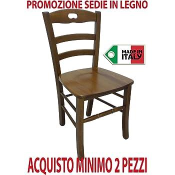 Ordine min. 2 pz sedia poltrona paesana in legno massello noce casa ristorante