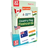 Spartan Kids Regular Flash Cards : 27 Country Flag Flash Cards For Kids
