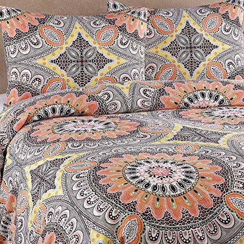 BBBMex Agra 2-teilig Bettbezug mehrfarbig (Pfirsich) Twin -