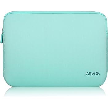 Arvok 17 17.3 Pouces Housse pour Ordinateur Portable en Néoprène Pochette Sacoche pour Chromebook Ultrabook Netbook Tablette (Vert Clair)