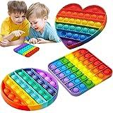 Fidget Toys 3 Pieces Push Pop Pop Bubble Sensory Fidget Toy, Autism Special Needs Stress Reliever Silicone Stress Reliever To