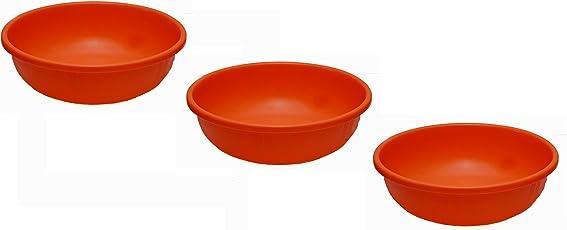 Saurabh Shaktiman Unbreakable 17 Inch Tub - Pack of 3 - Orange