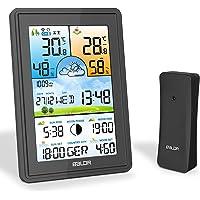 SOSPIRO Wetterstation Funk mit Außensensor,3 Senderkanäle Digital Thermometer Hygrometer Innen Außen Raumthermometer…