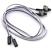 2 per PC Power Switch Button, flessibile, lunghezza: 50 cm