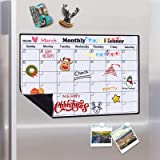 Magnetic Calendar Dry Erase Whiteboard for Fridge, 2021 Weekly and Monthly Planner White Board Memo with Strong Magnet…