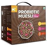MuscleBlaze Probiotic Muesli, Breakfast Cereals For Good Gut Health, Choco Cranberry, Multigrain Flakes, Antioxidant-Rich, 1