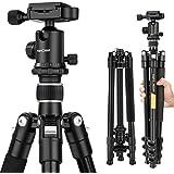 K&F Concept® TM2324 Kamerastativ Aluminium Stativ Fotostativ für Canon Nikon Sony Kamera inkl. Kugelkopf Schnellwechselplatte und Stativtasche