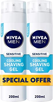 NIVEA, MEN, Shaving Foam, Sensitive, 2 x 200ml