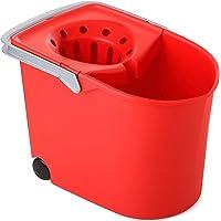 TATAY 1103209 Seau Essoreur à Roulettes Plastique Rouge 38,2 x 25,5 x 28 cm