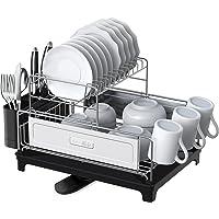 SHAN ZU Égouttoir à Vaisselle Cuisine à 2 Niveaux en Acier Inoxydable 304, Support à Vaisselle Détachable de Grande…
