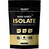 Six Pack Nutrition Raw Whey Protein Isolate 90% - 27 g Protein, 6 g BCAA, 12 g EAA's Per Serving, 30 Servings 908 g / 2 lbs