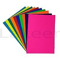 Lakeer A4 Color Paper Premium Colour 80 GSM 100 Sheets (10 Colours X 10 Sheets Each) Pack for Art & Craft, Decoration…
