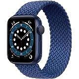 JONWIN Correa Solo Loop Trenzada Compatible con Apple Watch 38mm 40mm 42mm 44mm,Deportiva de Repuesto de Fibras de Silicona T