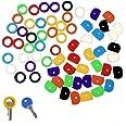 JZK Set 64 x Kleurrijke Flexibele Rubber Key Cap Covers Key Identificator Codering Ringen op kleur Code Keys