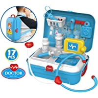 magicwand pretend play carry along back-pack doctor play set for kids (17 pcs)-Multi color