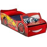 Disney Cars Lightning McQueen - Lit pour garçons avec rangement et pare-brise lumineux