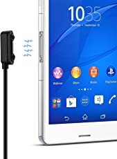 OKCS Magnet Ladekabel USB Sony Xperia Z1, Z1 Compact, Z2, Z2 Tablet, Z3, Z3 Compact, Z3 Tablet Compact, Z4 Tablet Compact - 2 Meter in Schwarz