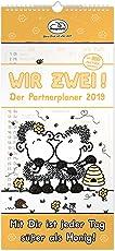 Sheepworld 45523 Partner-Kalender 2019, Wir zwei - der Partnerplaner 2019, Wand-Kalender mit 3 Spalten, Kalender 2019 mit 12 Monatsseiten, mit 200 Partner Stickern, Kalender für Pärchen, Kalender für Familien