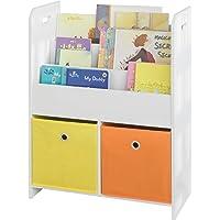 SoBuy® KMB27-W Bibliothèque Meuble de Rangement pour Livres et Jouets Étagère Enfant Étagère à Livres Étagère de…