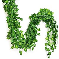 SPHINX Artificial Leaves Garlands/Creepers for Decoration (Shapes/Design as per Stock) - No. of Strands - (3)