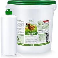 AniForte Milben Stop Puder für Hühner inkl. Puderflasche, Diatomeenerde als Mittel gegen rote Vogelmilben, Kieselgur Pulver ohne Chemie für Bio-Betriebe geeignet - 10 Liter