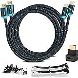 MutecPower 2 Pack 2m Cavo HDMI 2.0 - Alta velocità con Ethernet 4Kx2K/60HZ Ultra HD 2160p / Full HD 1080p - 3D/Arc/CEC - Cavo