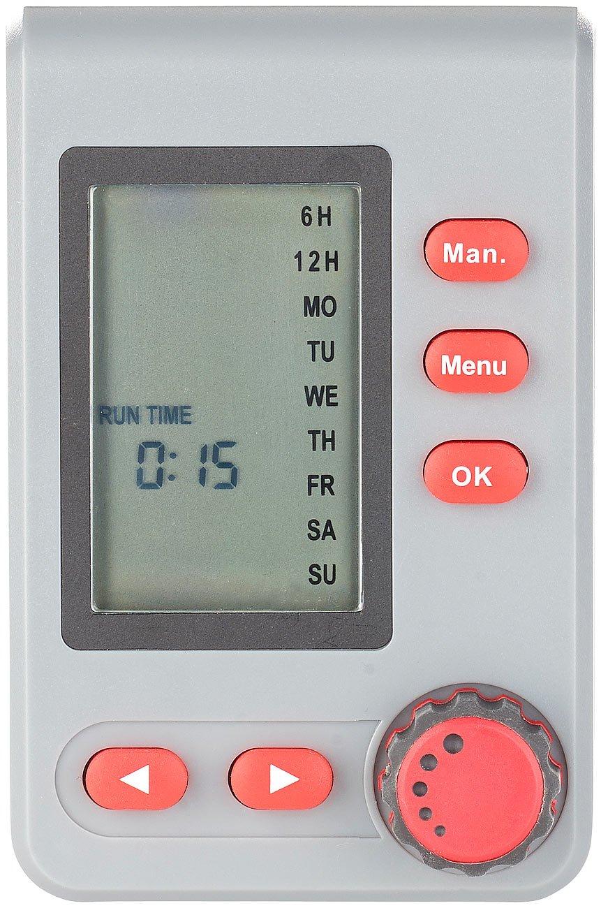 Royal Gardineer Bewässerungssysteme: Digitaler Bewässerungscomputer BWC-100 mit Magnet-Ventil (Bewässerung Zeitschaltuhr…