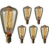 Gorssen Ampoule Edison E14,Lampe Edison Vintage 40W 2200K Blanc Chaud Rétro Filament Ampoule Decorative pour Bars, Restaurant