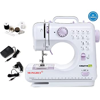 Creativevia 12 Built-In Stitch Pattens Multi-Functional Electric Sewing Machine